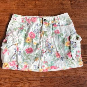 Ralph Lauren floral cargo mini skirt